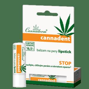 Cannaderm Cannadent – balzam na pery lipstick 4,5 g