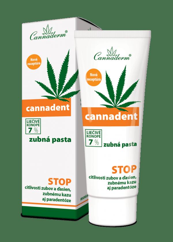 Cannaderm Cannadent – ošetrujúca zubná pasta 75 g