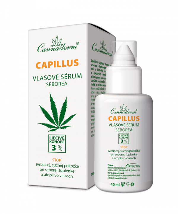 Cannaderm Capillus – vlasové sérum seborea 40 ml