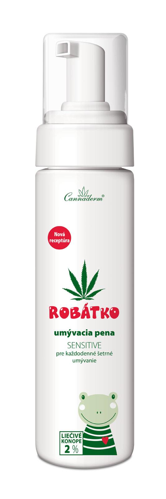 Cannaderm Robátko – umývacia pena Sensitive 200 ml