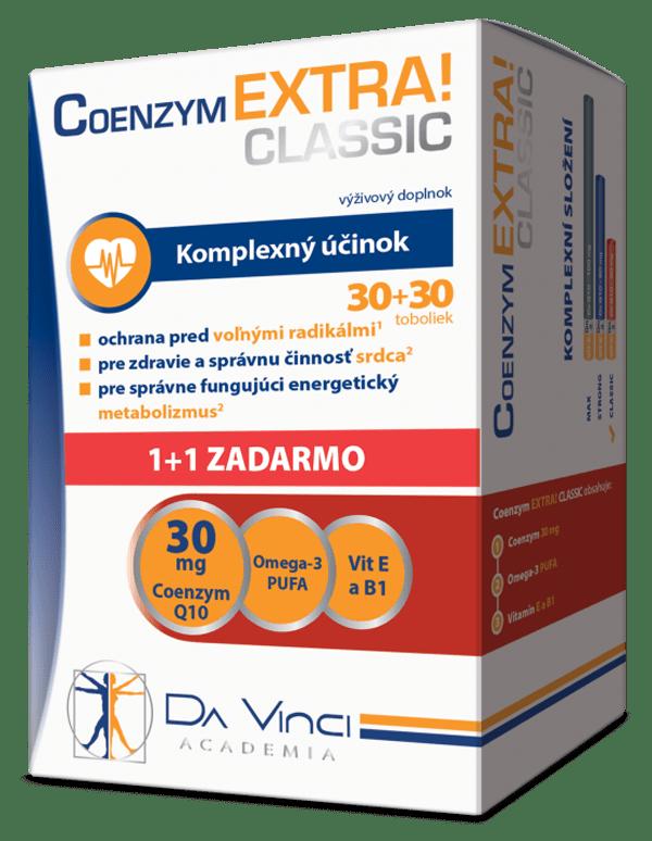 Coenzym EXTRA! Classic 30mg – Da Vinci 30+30 tob. ZADARMO