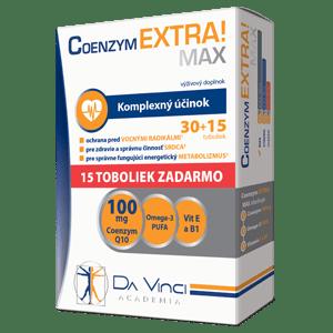 Coenzym EXTRA! Max 100mg – Da Vinci 30+15 tob. ZADARMO