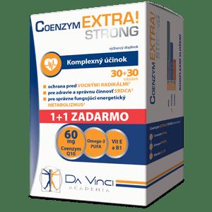 Coenzym EXTRA! Strong 60mg – Da Vinci 30+30 tob. ZADARMO