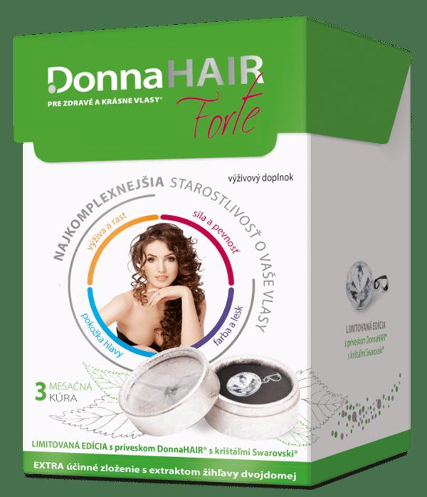 Donna HAIR FORTE 3 mesačná kúra 90 tob.+ prívesok SWAROVSKI