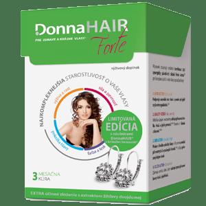 Donna HAIR FORTE 3 mesačná kúra 90 tob.+ náušnice SWAROVSKI