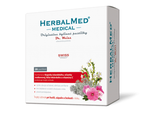 HerbalMed MEDICAL pastilky Dr.Weiss - 20 past.