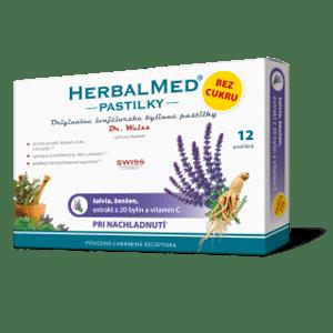 HerbalMed pastilky BEZ CUKRU – šalv., ženš. + vit.C 12