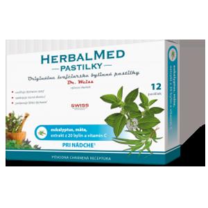 Herbalmed pastilky – eukalyp., mäta + vit. C 12