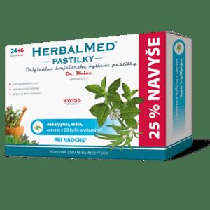 Herbalmed pastilky – eukalyp., mäta + vit. C 24+6