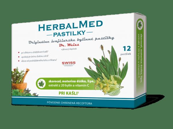 HerbalMed pastilky – skor., mat.dúš.,lipa + vit.C 12