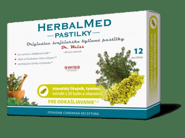 HerbalMed pastilky – isl.lišajník,tymian,+ vit.C 12