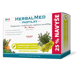 HerbalMed pastilky – isl.lišajník,tymian, + vit.C 24+6