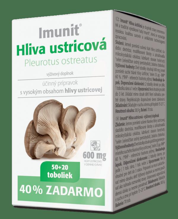 Imunit Hliva ustricová 50+20 tob. ZADARMO