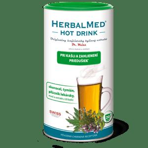 HerbalMed Hot Drink Dr.Weiss – kašeľ a priedušky 180 g