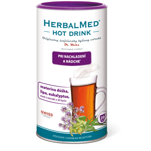 HerbalMed Hot Drink Dr.Weiss – nachladnutie a nádcha 180 g