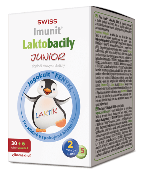 SWISS IMUNIT Laktobacily Junior 30+6 tbl.