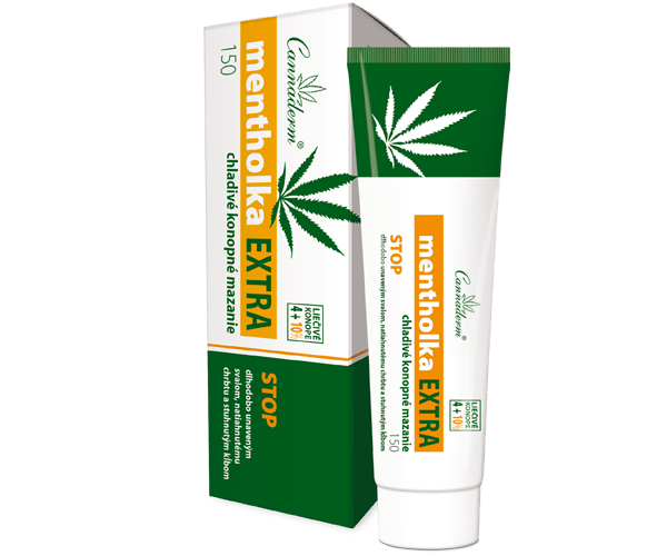 Cannaderm Mentholka EXTRA – chladivé konopné mazanie 150 ml