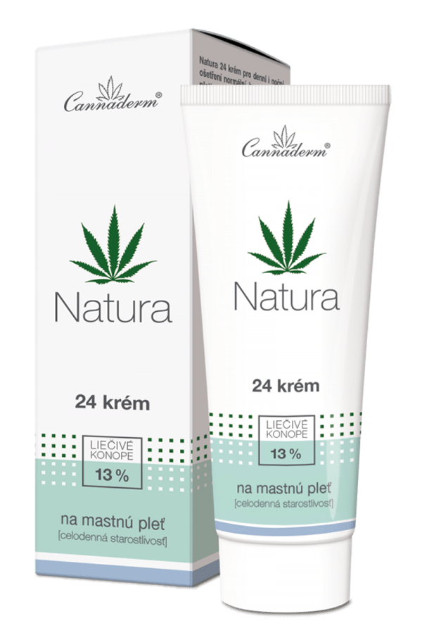 Cannaderm Natura – celodenný 24 krém na mastnú pleť 75 g