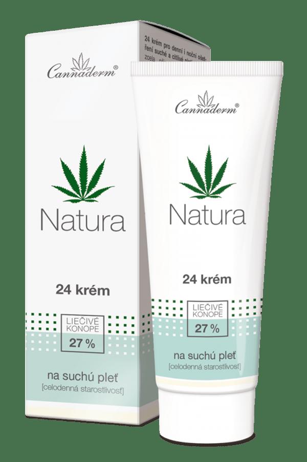 Cannaderm Natura – celodenný 24 krém na suchú pleť 75 g