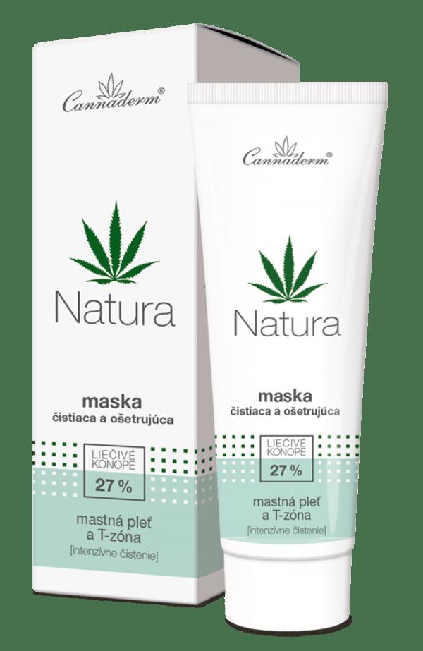 Cannaderm Natura – čistiaca maska na mastnú pleť a T-zónu 75 g