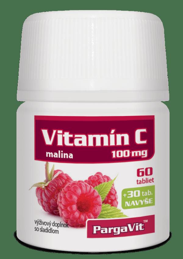 PargaVit Vitamín C malina 90 tbl.