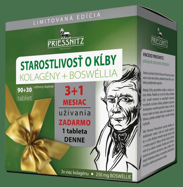 Priessnitz Starostlivosť o kĺby, Kolagény+Boswéllia 90+30 tbl. ZADARMO