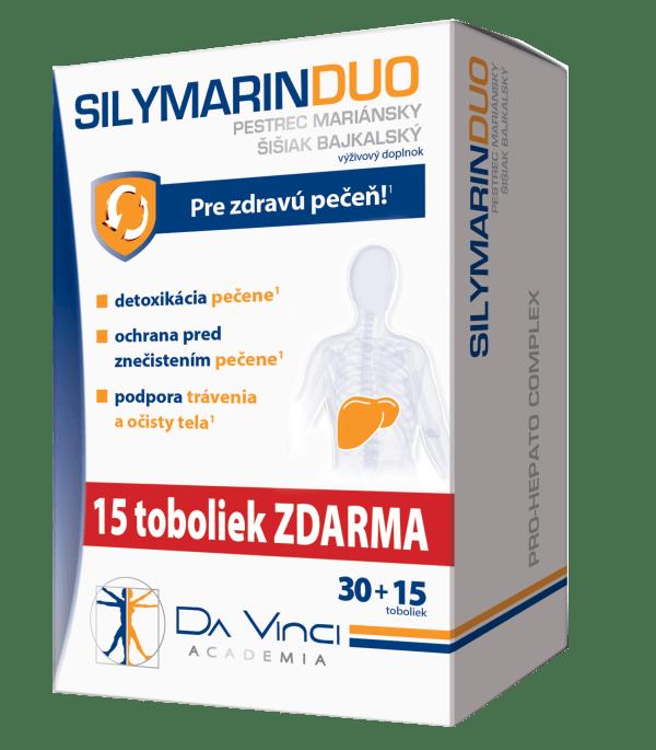 Silymarin DUO – DA VINCI 30+15 tob. ZADARMO