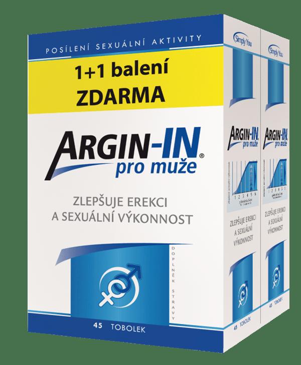 Argin-IN pre mužov 45+45 tob. ZADARMO