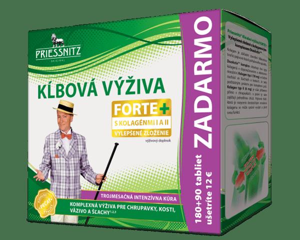 Priessnitz Kĺbová výživa FORTE+ kolagény 180+90 tbl. ZADARMO