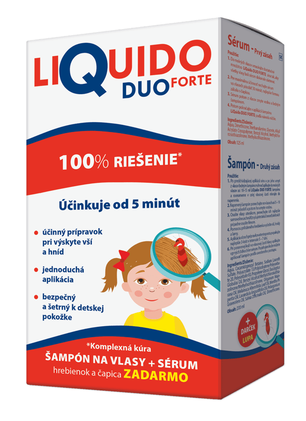 LiQuido DUO FORTE proti všiam (šampón+sérum) 200+125 ml