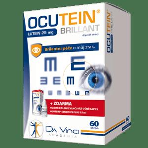 Ocutein Brillant Lutein 25 mg – DA VINCI 60 tob.+ očné kvapky 15 ml