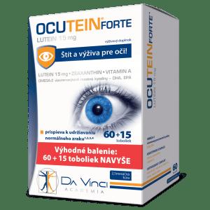 Ocutein Forte Lutein 15 mg - DA VINCI 60+15 tob. Navyše