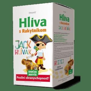 Imunit Hliva ustricová pre deti s Rakytníkom JACK HLÍVÁK je výživový doplnok so sladidlami, ktorý bol vyvinutý podľa posledných poznatkov modernej farmácie na potreby detského organizmu. V ústach voľne rozpustné tablety majú príjemnú chuť lesných jahôd a každá tableta obsahuje vyváženú kombináciu vybraných prírodných látok s dôrazom na používanie vybraných prírodných farbív. Hliva ustricová PRE DETI s Rakytníkom JACK HLÍVÁK prispieva k: • normálnej funkcii imunitného systému (selén, B6 a B12); • normálnemu rastu detí (jód); • udržaniu normálneho stavu kostí (D3); • prirodzenému energetickému metabolizmu (jód); • prirodzenej činnosti nervovej sústavy (B6, B12). Účinné látky: Beta-1,3/1,6 D-glukán 30% izolovaný z hlivy ustricovej, rakytníkový extrakt, nukleotídy chlorelly, vitamín B6, (pyridoxín hydrochlorid), jód (jodid draselný), selén (seleničitan sodný), vitamín D3 (cholekalciferol), vitamín B12 (kyanokobalamín). Odporúčaná denná dávka: Deťom sa odporúča užívať 1 – 2 tablety denne, najlepšie hneď po jedle. Dávkovanie pre deti vo veku 3 – 8 rokov 1 tbl. Denne, 9 – 12 rokov dávkovanie 1 – 2 tablety denne, staršie deti a dospelí dávkovanie 2 – 3 tablety denne. Tablety sa pre vyššiu účinnosť nechajú voľne rozpustiť v ústach. Prípravok sa odporúča začať užívať čo najskôr v začínajúcich ťažkostiach a po celú dobu ťažkostí. Obsah balenia: 30 tabliet + darček