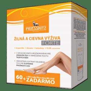 Priessnitz Žilná a cievna výživa FORTE 60 tob.+ gél 125 ml ZADARMO