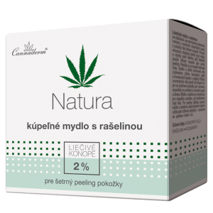 Cannaderm Natura – kúpeľné mydlo s rašelinou 80 g