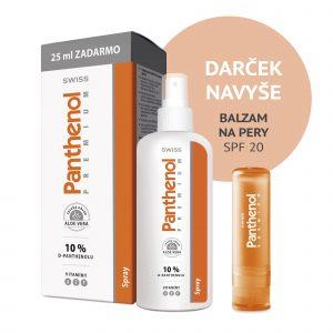 Panthenol 10% SWISS PREMIUM spray s aloe 150+25 ml ZADARMO