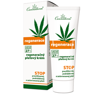 Cannaderm Regenerace – regeneračný krém na suchú pokožku 75 g