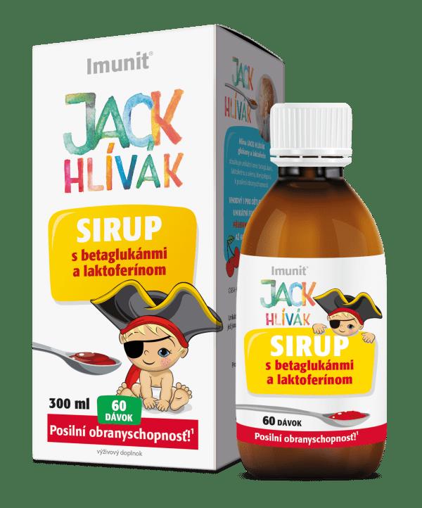 Hliva Jack Hlivak glukány a laktoferín 300 ml sirup