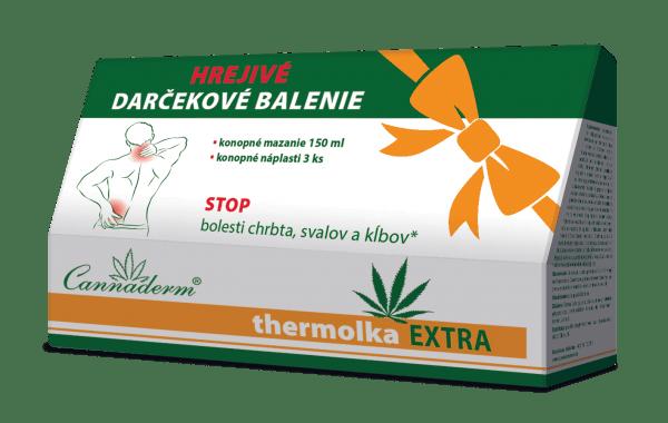 Cannaderm Thermolka EXTRA darčekové balenie 150 ml + náplasti 3 ks